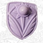 Entrapta's purple shield from the 1986 vintage She-Ra Princess of Power toy line. Check out her figure and accessories using the weapons rack database finder.