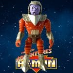 Flogg is a Space Mutant with a mostly red and silver color scheme and was released in the first wave of The New Adventure of He-Man toy line
