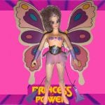 1986 Flutterina from the vintage She-Ra Princess of Power toy line. Check out her figure and other accessories using the weapons rack database finder.