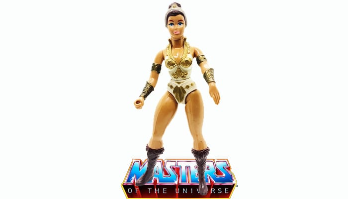 Teela action figure from the vintage Masters of the Universe toy line.