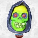 Demo-Man's Skeletor Head from the Masters of the Universe Classics toy line. Find other figures, weapons, vehicles, and accessories using the Weapons Rack.