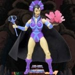 Evil-Lyn action figure from the Filmation Super7 Masters of the Universe toy line. Find other figures, weapons, vehicles, and accessories using the Weapons Rack.
