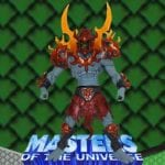 Fire Armor Skeletor action figure from the Masters of the Universe Modern Series toy line. Find other figures & accessories using the Weapons Rack.