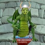 Granamyr green power con exclusive creature from the Masters of the Universe Classics toy line.