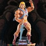 He-Man action figure from the Filmation Super7 Masters of the Universe toy line. Find other figures, weapons, vehicles, and accessories using the Weapons Rack.