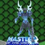 Ice Armor Skeletor action figure from the Masters of the Universe 200x Modern Series toy line. Find other figures, weapons, and accessories using the Weapons Rack.