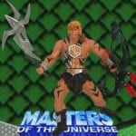Jungle Attack He-Man action figure from the Masters of the Universe 200x Modern Series toy line. Find other figures, vehicles, & accessories using the Weapons Rack.