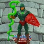 King Hssss action figure from the Masters of the Universe Classics line. Find other figures, weapons, vehicles, and accessories using the Weapons Rack.