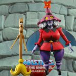 Madame Razz and Broom action figure from the Masters of the Universe Classics line. Find other figures, weapons, vehicles, and accessories using the Weapons Rack.