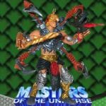 Mecha Blade He-Man action figure from the Masters of the Universe 200x Modern Series toy line. Find other figures, weapons, and accessories using the Weapons Rack.