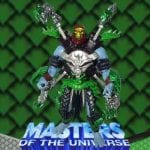 Mecha Blade Skeletor action figure from the Masters of the Universe 200x Modern Series toy line. Find other figures, weapons, and accessories using the Weapons Rack.