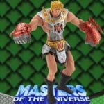 Mega Punch He-Man action figure from the Masters of the Universe Modern Series toy line. Find other figures & accessories using the Weapons Rack.