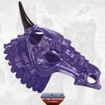 Night Stalker's helmet from the Masters of the Universe Classics toy line. Find other figures, weapons, vehicles, and accessories using the Weapons Rack.