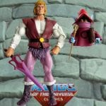 Orko with Prince Adam action figure from the Masters of the Universe Classics line. Find other figures, weapons, vehicles, and accessories using the Weapons Rack.