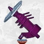 Rokkon gun from the Masters of the Universe Classics toy line. Find other figures, weapons, vehicles, and accessories using the Weapons Rack.