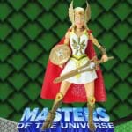 She-Ra action figure from the Masters of the Universe 200x Modern Series toy line. Find other figures, weapons, and accessories using the Weapons Rack.