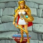 She-Ra action figure from the Masters of the Universe Classics line. Find other figures, weapons, vehicles, and accessories using the Weapons Rack.