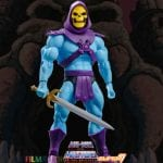 Skeletor action figure from the Filmation Super7 Masters of the Universe toy line. Find other figures, weapons, vehicles, and accessories using the Weapons Rack.