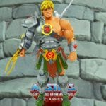 Snake Armor He-Man action figure from the Masters of the Universe Classics line. Find other figures, weapons, vehicles, and accessories using the Weapons Rack.