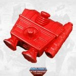 Snout Spout's backpack from the Masters of the Universe Classics toy line. Find other figures, weapons, vehicles, and accessories using the Weapons Rack.