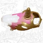 Swift Wind's unicorn mask from the 1985 vintage She-Ra Princess of Power toy line. Check out his figure and other accessories using the weapons rack database finder.