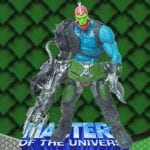 Trap Jaw from the Masters of the Universe 200x Modern Series toy line. Find other figures, weapons, accessories, and vehicles using the Weapons Rack.