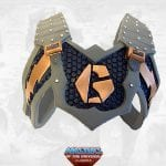 Tytus' armor from the Masters of the Universe Classics toy line. Find other figures, weapons, vehicles, and accessories using the Weapons Rack.