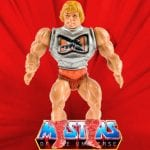 Battle Armor He-Man action figure from vintage Masters of the Universe original series toy line. Find other figures, weapons, vehicles, and accessories using the Weapons Rack.