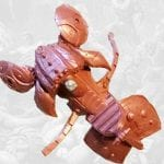Battle Cat's saddle armor 2002 Masters of the Universe 200x Modern Series toy line.