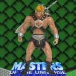 He-Man action figure that came with the Battle Tank from the Masters of the Universe 200x Modern Series toy line.