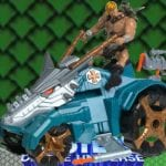 Battle Tank from the Masters of the Universe 200x Modern Series toy line.  Find other figures, weapons, vehicles, and accessories using the Weapons Rack.