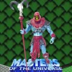 Skeletor Blood red repaint from the Masters of the Universe 200x Modern Series toy line. Find other figures, weapons, vehicles, and accessories using the Weapons Rack.