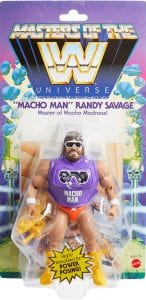 Macho Man WWE Masters of the Universe Package Front