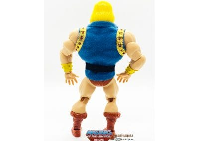 Prince Adam SDCC Exclusive Masters of the Universe Origins Figure Back View