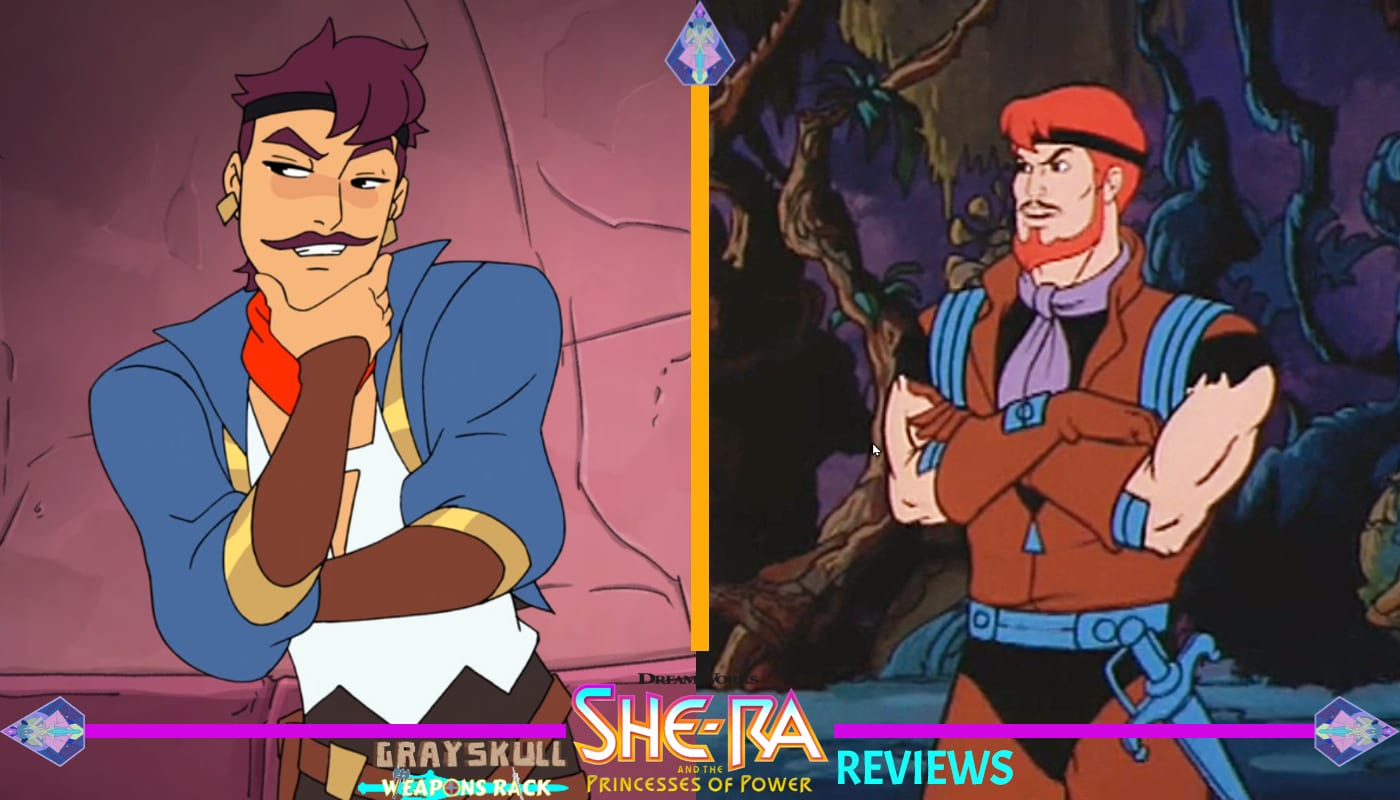 Sea Hawk as he appears in the Dreamworks Netflix series vs. 1980's Filmation cartoon