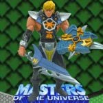 Shield Strike He-Man action figure from the Masters of the Universe 200x Modern Series toy line.