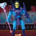 Skeletor action figure from the Vintage Super7 Masters of the Universe toy line.