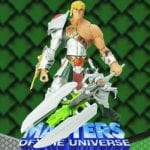 Snake Armor He-Man action figure from the Masters of the Universe 200x Modern Series toy line.