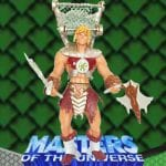 Snake Hunter He-Man action figure from the Masters of the Universe 200x Modern Series toy line.