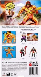 Ultimate Warrior WWE Masters of the Universe Package Back