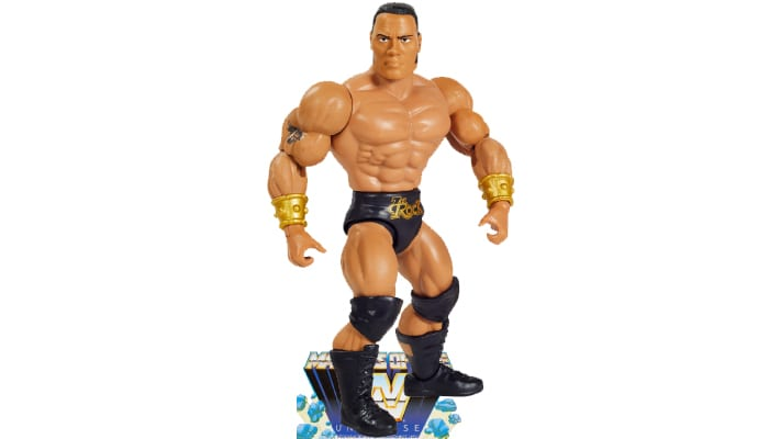 The Rock from the WWE Masters of the Universe toy line.