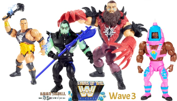 WWE Masters of the Universe Wave 3 figures