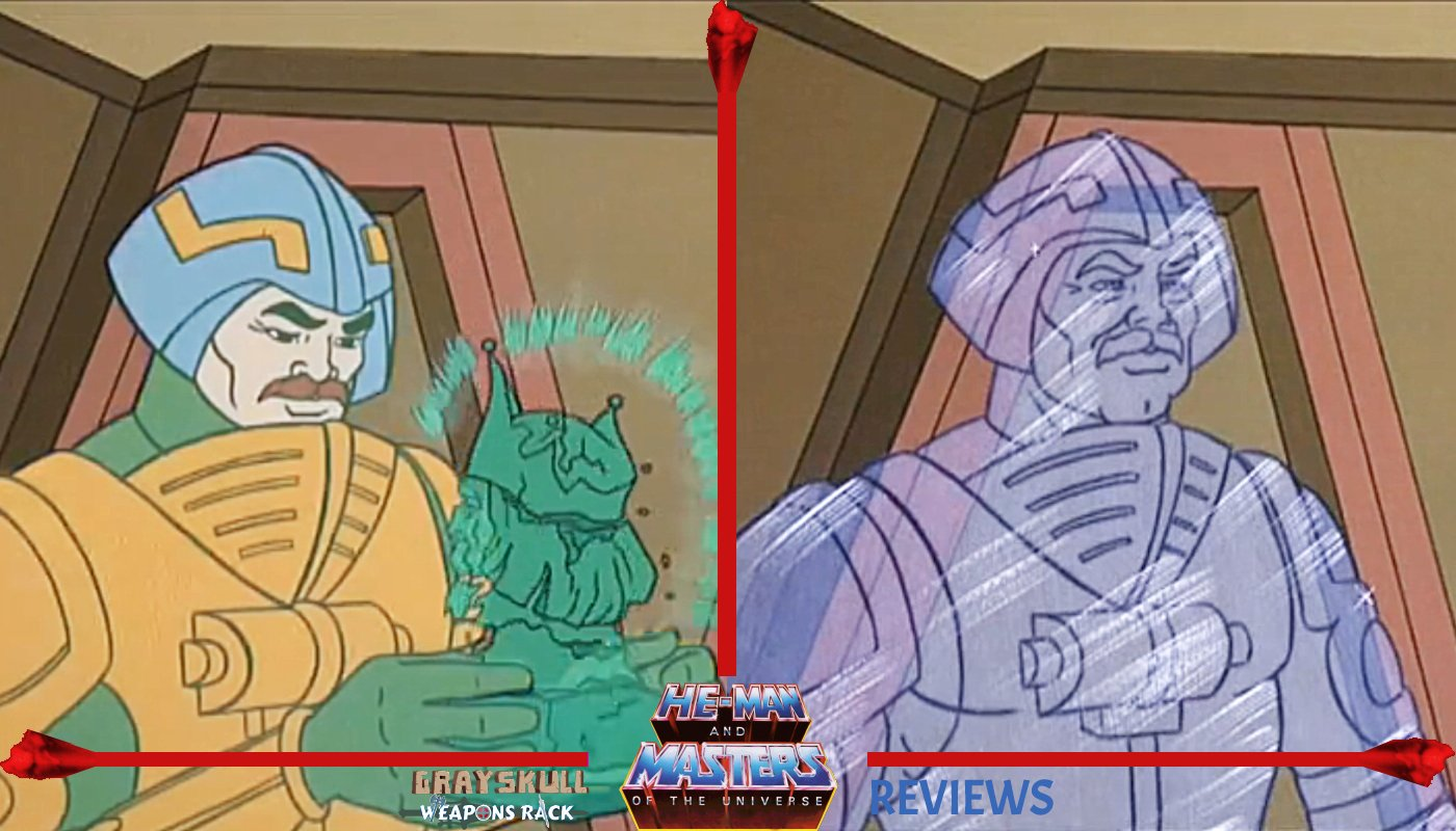 Crystal Man-At-Arms as he appeared in the He-Man Dragons Gift cartoon