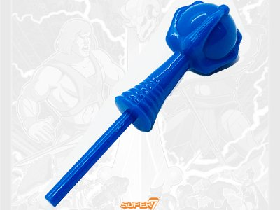 Evil-Lyn's staff from the Vintage Super7 Masters of the Universe toy line. Find other figures, weapons, vehicles, and accessories using the Weapons Rack.