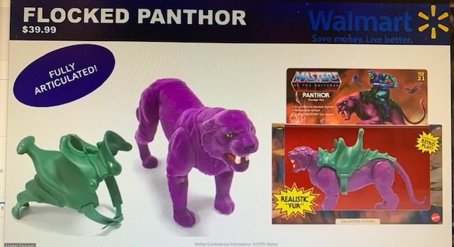 Flocked Panthor Masters of the Universe Origins Creature