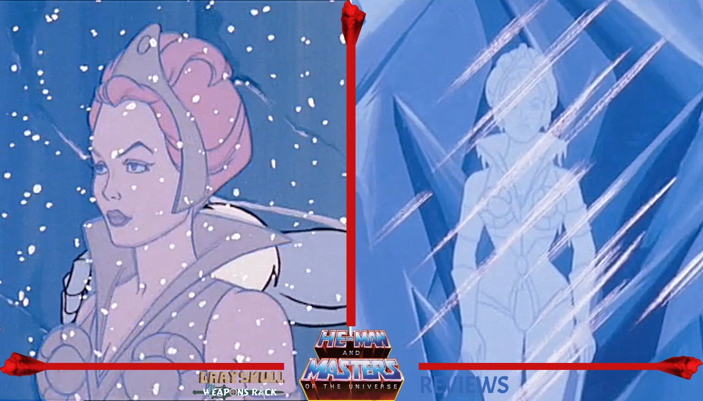 Frozen Teela as she appeared in the He-Man and the Masters of the Universe Filmation Cartoon