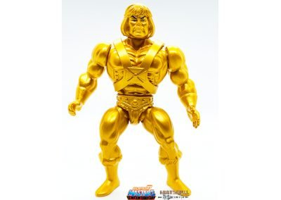 Gold Statue He-Man 2019 Vintage Super7 Masters of the Universe Figure front view
