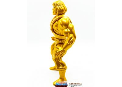 Gold Statue He-Man 2019 Vintage Super7 Masters of the Universe Figure left side view
