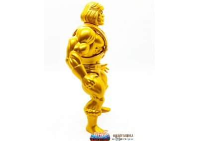 Gold Statue He-Man 2019 Vintage Super7 Masters of the Universe Figure right side view