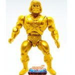 Gold Statue He-Man action figure from the Vintage Super7 Masters of the Universe toy line. Find other figures, weapons, vehicles, and accessories using the Weapons Rack.